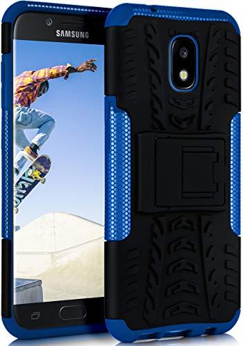 ONEFLOW Tank Case kompatibel mit Samsung Galaxy J5 (2016) - Hülle Outdoor stoßfest, Handyhülle mit Ständer, Kamera- und Bildschirmschutz, Handy Hardcase Panzerhülle, Horizon - Blau