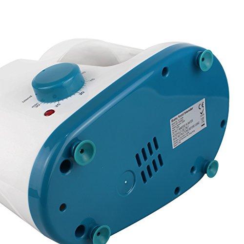 Leogreen – Baby-Küchenmaschine, Mixer für Babynahrung, Weiß/Blau, Funktion: 2 in 1 Dampfgarer und Mixer, Spannung: 220-240 V - 6