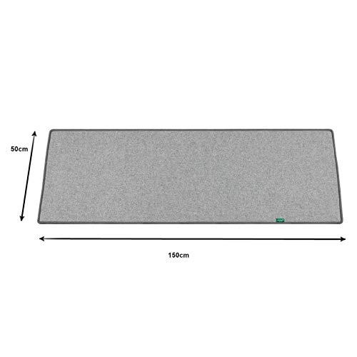 50x150cm Hellgrau Heitzmatte große elektrische Bodenmatte Beheizbarer Teppich
