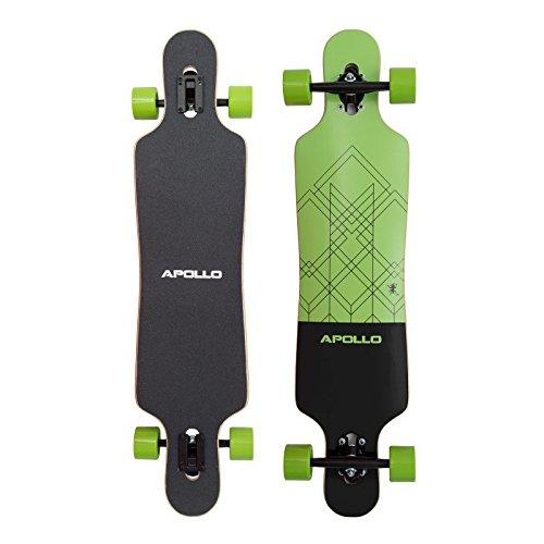 Apollo Longboard Vanua Flex III Special Edition Komplettboard mit High Speed ABEC Kugellagern inkl. Skate T-Tool, Drop Through Freeride Skaten Cruiser Boards