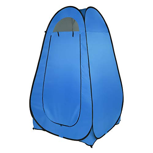 Toilet Shower Tent 1-2 Person Portable Pop Up Dressing Tent Changing Room Privacy Tent Camping Shelter (Blue)