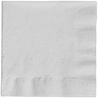 Creative Converting Value Pack Paper Beverage Napkins, White, 200-Count - 1 Pack