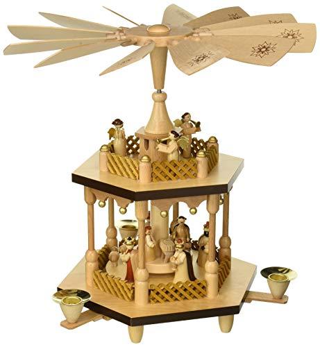 Alexander Taron 1371 Richard Glaesser Pyramid-2 Tiers Nativity Scene and Angel Musicians-12.5