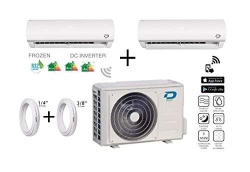 Diloc Frozen MultiSplit airconditioning Inverter Dual gas R32 compressor Sharp D.FROZEN240 (9+12) D.FROZEN9 + D.FROZEN12) + koperen buizen 1/4