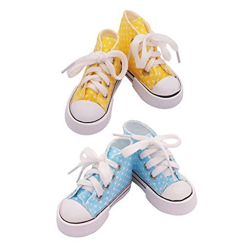 perfeclan 2X Scarpe di Tela con Pantofole per 1/3 di Bambole BJD, 7,5 X 4,5 Cm
