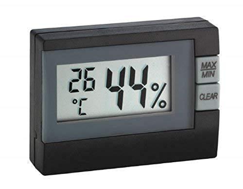 TFA Dostmann - Termómetro e higrómetro Digital, Negro, (L) 54 x (B) 16 (30) x (H) 39 mm
