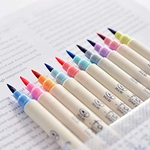 675 Cute 10 PCS Touch Writing Pen Calligr Quantity limited Ranking TOP6 Sketch Color Brush