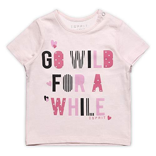 ESPRIT KIDS ESPRIT KIDS Baby-Mädchen SS T-Shirt, Rosa (Blush 310), (Herstellergröße: 62)