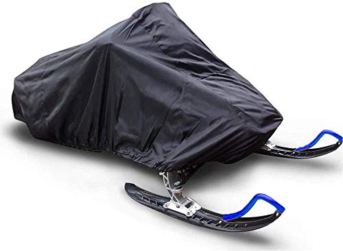 Ucare Waterproof Snowmobile Cover Fits up to 145'' Water- Repellant Dustproof Snowmobiles Covers for Arctic Cat/Polaris/Ski Doo/Yamaha Snowmobiling (145x51x48 in/ 368x130x121 cm)