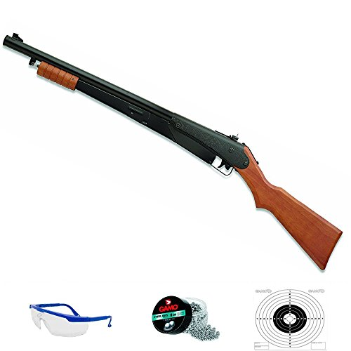 25 PUMP GUN Pack Escopeta de balines Daisy Sistema: Aire comprimido (Muelle) y Bolas BB's de Acero (perdigones 4.5) <3,5J