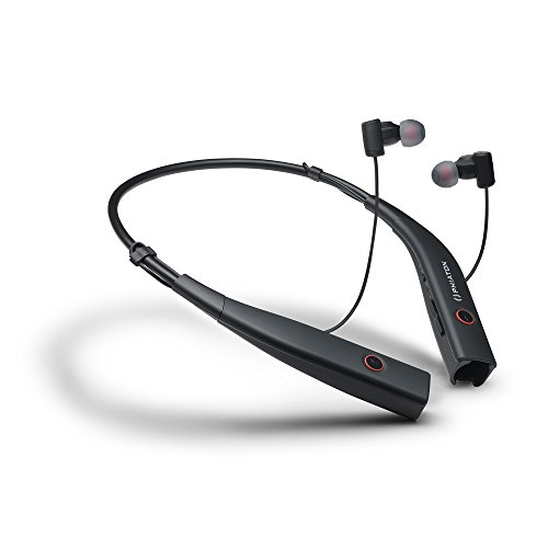 Phiaton BT 100 NC Grey Wireless Bluetooth Active Noise Cancelling Neck Band Style Earphones with Mic