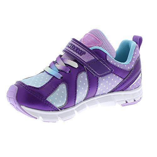 TSUKIHOSHI 3584 Child Rainbow Sneaker, Purple/Lt. Blue - 7.5 Toddler