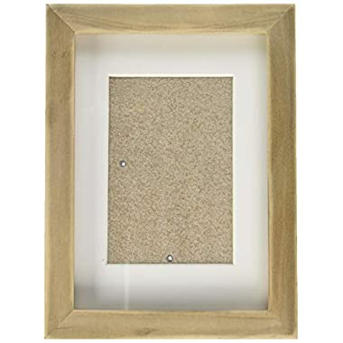 DesignOvation Gallery Picture Frame, 5x7 matted to 3.5x5, Rustic Brown