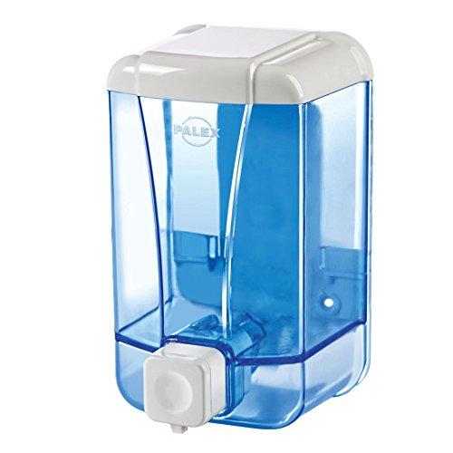 Palex Dispensador de jabón líquido, 500 cc, azul transparente