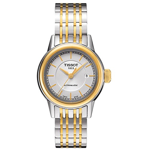Tissot Damen-Uhren Rund Analog Automatik One Size Edelstahl 86136384