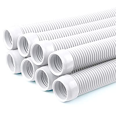 """POOLWHALE Vacuum Hose/Replacement Pool Hose -1.5"""" 8 Hoses for Pool,Spa"""