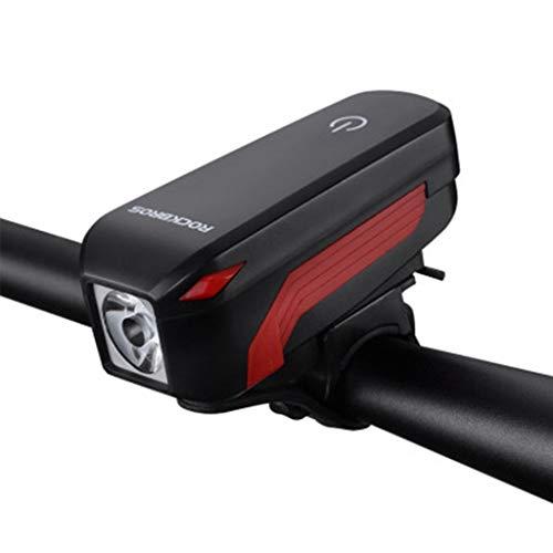 JSY Lumière de vélos VTT phares Chargement USB Corne de Bell Lampe de Poche Nuit Accessoires Équitation Sets d'éclairage Avant et arrière