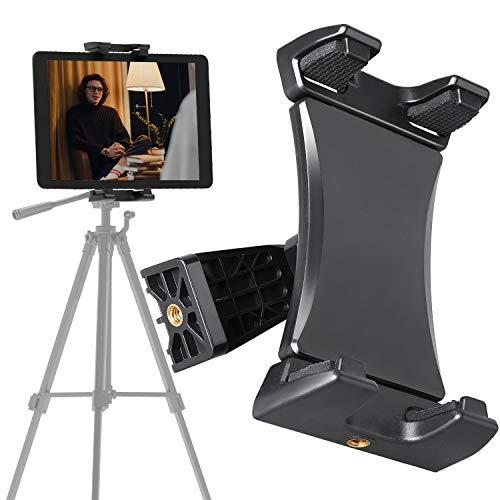 Padwa Lifestyle Universal Tablet Stativ Halterung Halter Clip Mount Adapter Kompatibel mit Stativ, Selfie-Stick, Einbeinstativ mit 1/4 Schraubenkopf, für 4.7-12.9 Zoll Tablet, Telefon und iPad