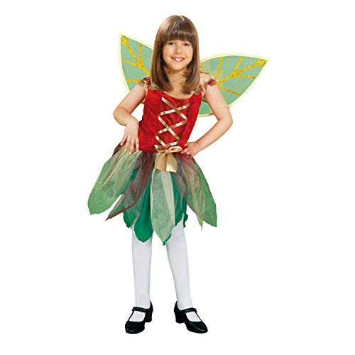 My Other Me Me-200725 Hadas Disfraz de hada del bosque para niña, color verde, 3-4 años (Viving Costumes 200725)