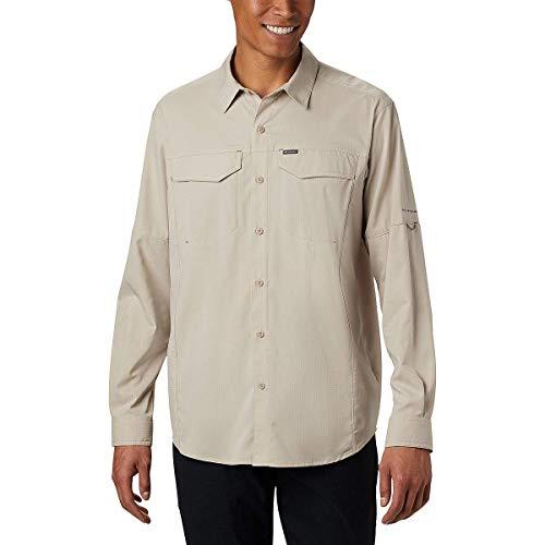 Columbia Silver Ridge Lite Camisa de Manga Larga para Hombre, protección Solar UV, Tela Que Absorbe la Humedad