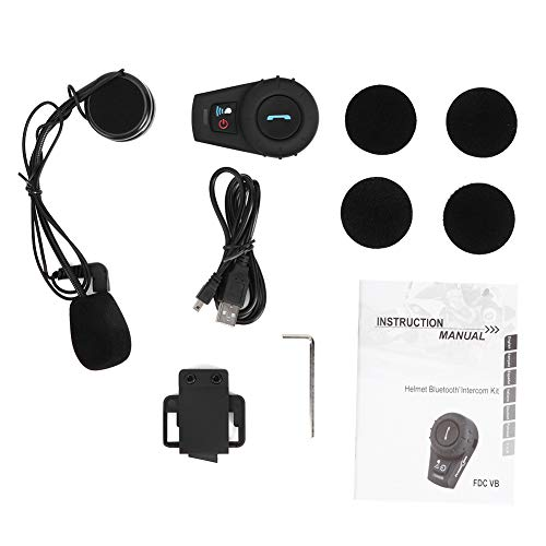 Read About Motorcycle Bluetooth Intercom Headset Hands-Free Headphone Wind Resistant Anti-Noise