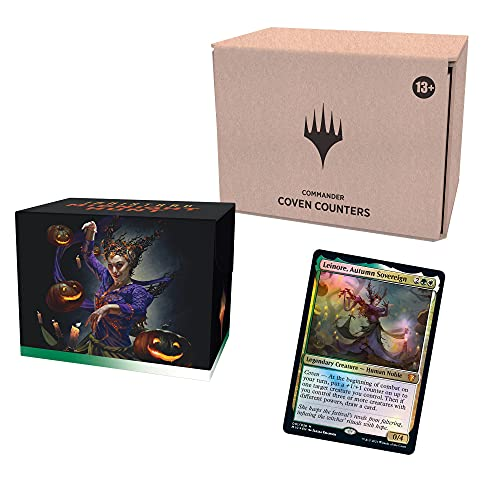 Magic: The Gathering Innistrad: Midnight Hunt Commander Deck – Coven Counters (Green-White) | Minimal Packaging Version
