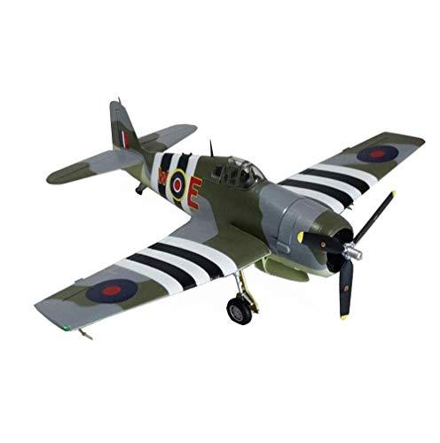 1yess Militärkampf Modell, 1/72 WWII Grumman F6F Hellcat Modell, Sammleredition, 7.1Inch X5.6Inch