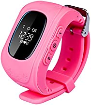 Children's Smart GPS Base Station Accurate Dual Positioning Tracking Children watch anti wandered off track Pink