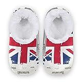linomo Zapatillas de casa con bandera del Reino Unido de Londres Big Ben para mujer, pantuflas para interiores, zapatos de casa, zapatos de dormitorio, color Multicolor, talla 42/43 EU