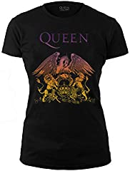 Officially Licensed - T-Shirt Camiseta Gradient Logo Mujer T Shirt Bohemian Rhapsody