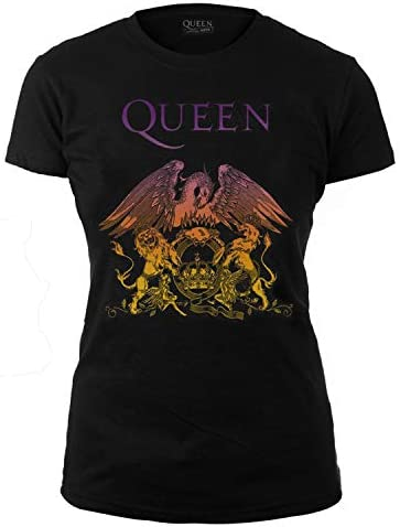 Officially Licensed - T-Shirt Camiseta Gradient Logo Mujer T Shirt Bohemian Rhapsody