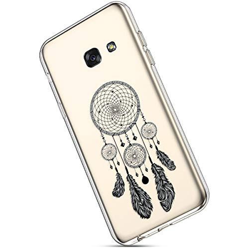 Ukayfe Compatible con Samsung Galaxy A3 2017 Custodia Trasparente Silicone con Disegni Ultra Sottile Slim Morbida TPU Gel Gomma Clear Case Antiurto Bumper Protettiva Cover - Acchiappasogni
