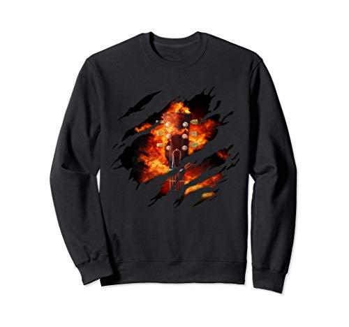 Feuer Gitarre in mir Design, Gitarre Sweatshirt