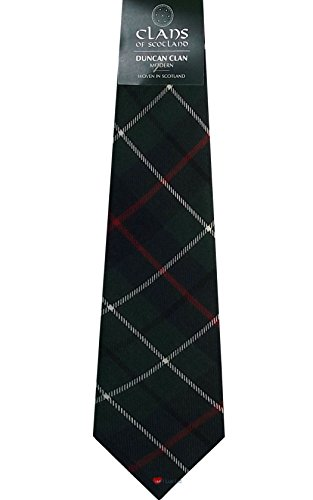 I Luv Ltd Duncan Clan 100% Wool Scottish Tartan Tie