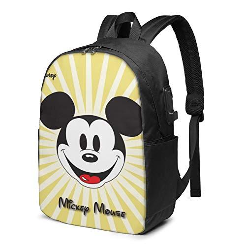 Caelpley Zaino per Il Tempo Libero per Ragazze e Ragazzi, Grande Zaino per Laptop, Zaino da Viaggio Impermeabile per Uomini e Donne, Disney Mickey Mouse Golden Radial