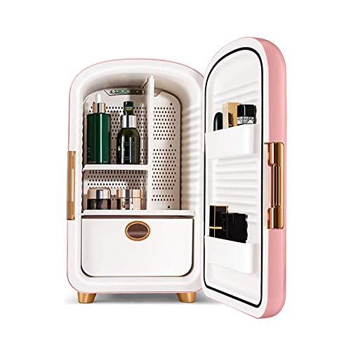 DFJU Mini refrigerador portátil, refrigeradores de Maquillaje de Doble Puerta con preservación Inteligente de Temperatura Constante para Maquillaje y Cuidado de la Piel