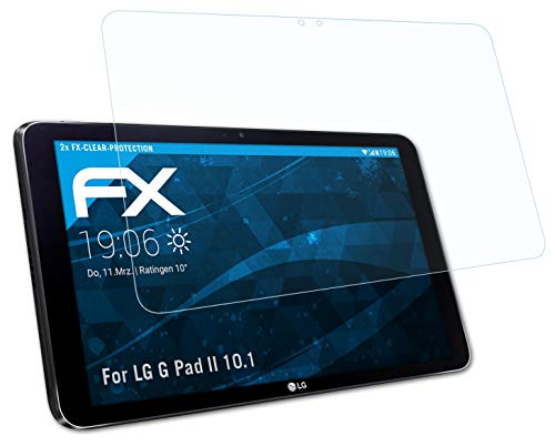 atFolix Schutzfolie kompatibel mit LG G Pad II 10.1 Folie, ultraklare FX Bildschirmschutzfolie (2X)