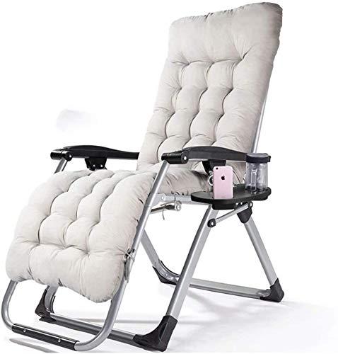 Folding Lunch Break Sofa backrest Beach Chair Folding Bed Chair Folding Recliner,White