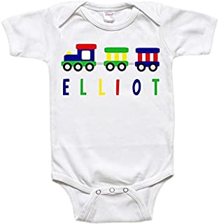 Personalized Baby Bodysuit Toddler Shirt - Baby Gift - Train