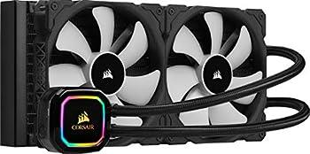 Corsair iCUE H115i RGB Pro XT 280mm Radiator Dual 140mm PWM Fans Software Control Liquid CPU Cooler
