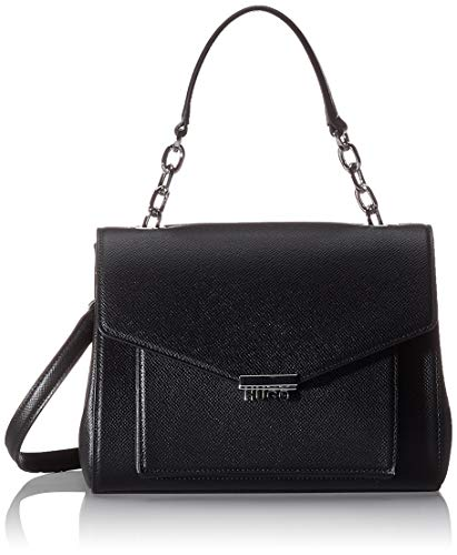 HUGO Damen Victoria Top Handle Henkeltasche Schwarz (Black)