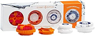Clarisonic Smart Profile Brush Head Replacement | For Face, Body, and Feet Cleansing | 4 pack