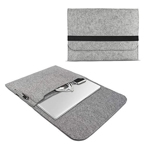 eFabrik Filz Tasche für Trekstor Primebook P13 Schutzhülle 13,3 Zoll Ultrabook Notebook Sleeve Hülle Soft Cover Schutztasche, Farbe:Grau