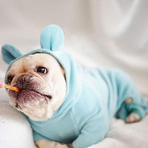 Fmiljiaty Haustier Hund Kleidermantel Winterkleidung für Hunde Hunde |Soft Pet Overalls, Welpenkostüm der französischen Bulldogge, Haustierhundekleidung für kleine mittlere Hunde, Mops-Jackenmantel