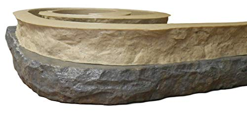 Stone Master Molds Chiseled Edge Concrete Countertop Edge Form Liner 10' by 3' wide, Recycled Material