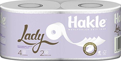 LADY Toilet Tissue - 4-lagig, ohne Parfüm und Farbstoffe, 10 x 2 Rollen pro Pack, 150 Blatt