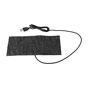 Manta Electrica USB, Almohadilla Térmica, 1 Alfombrilla Calefactora USB de Fibra de Carbono USB de 5V, Calentador de Manos 20x10 cm Almohadilla, Manta Cálida, 35-40 Grados Manta Termica Reptiles