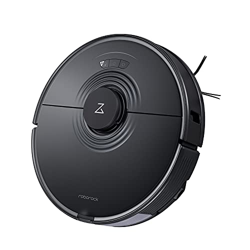 Roborock S7 Robot Vacuum and Mop with Sonic Mopping, Strong 2500PA Suction, Multi-Level Mapping, Plus App and Voice Control(Black)