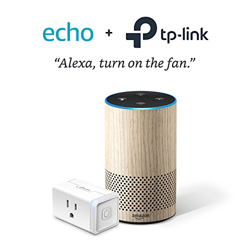 Echo (2nd Generation) - Limited Edition Oak with TP-Link Smart Plug Mini