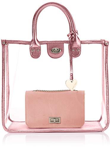 MARCO TOZZI Damen 2-2-61032-24 Handgelenkstasche, Pink (Rose Metallic), 15x30x36 cm